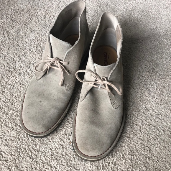 Clarks Taupe Suede Desert Boots Size 1